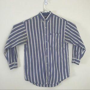 Vintage • 90s Arizona Vertical Stripe Button Down